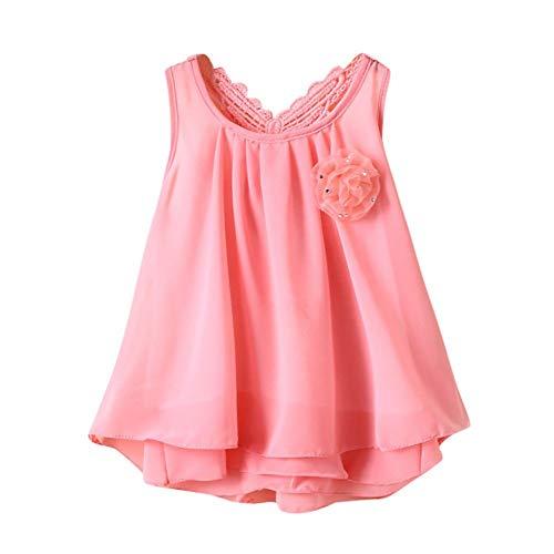 Mädchen Kleider,BaZhaHei Neugeborenes Baby Einfarbig Blume Schmetterling Drucken Rückenfreies Freizeitkleid Spitzenkleid Minikleid Sommerkleid A-Line Kurzes Kleid ()
