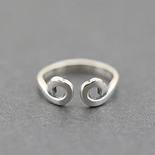 &qq Anelli,modellazione creativa, S925 anelli in argento sterling, gioielli, regali
