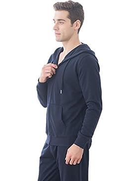 DMMSS A maniche lunghe con cappuccio maglione uomo cotone Sports pigiama Set , 1 , xl