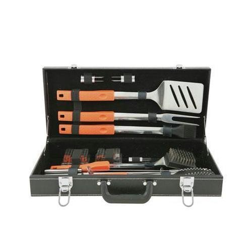 Mr Bar B Q 20 Stück Soft Grip Grillbesteck Set mit Attache Fall Silber Soft-attache