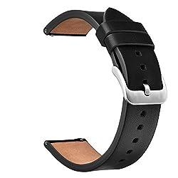 V-moro Samsung Gear S3 Frontier Gear Classic Armband, Echtes Leder Smart Uhrenarmband Armband Ersatz Armband Für Samsung Gear S3 Frontier Gear Classic Smart Fitness Uhr(leder Schwarz)