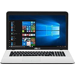 "ASUS K751SA-TY175T - Ordenador Portátil de 17.3"" HD (Intel Celeron N3060, 4 GB RAM, 1 TB HDD, Intel HD Graphics 400, Windows 10 Home) Blanco - Teclado QWERTY Español"