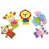 TOYMYTOY Baby Fingerpuppen Set 5pcs Tiere Handpuppen Plüschspielzeug pädagogischen Hand Puppen