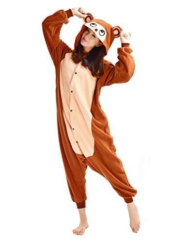 SAMGU-Affe Tier Onesie Pyjama Kostüme Schlafanzug Erwachsene Unisex -