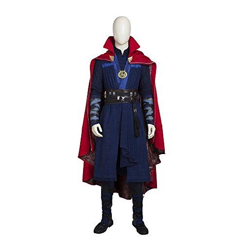 QWEASZER Marvel Avengers Doktor Seltsame Superheld Cosplay Kostüm Deluxe Adult Movie Anime Kostüme Kostüm Mantel, Roben, Gürtel, Armbänder, Stiefel, Halsketten,Doctor - Deluxe Samt Kostüm