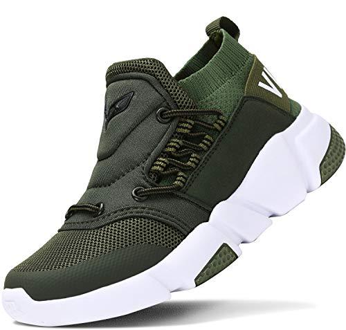 ASHION Kinder Turnschuhe Jungen Sport Schuhe Mädchen Kinderschuhe Sneaker Outdoor Laufschuhe für Unisex-Kinder(E-Grün,37 EU) -