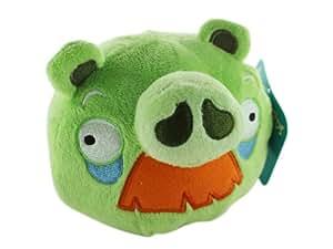 Angry Birds Peluche - Cochon Vert avec Moustache