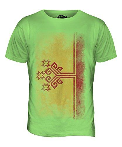 CandyMix Tschuwaschien Verblichen Flagge Herren T Shirt Limettengrün