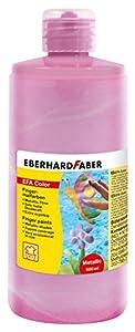 Eberhard Faber 578790 - Pintura de Dedos en la Botella, 500 ml, Perla / Rosa