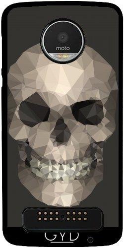 Motorola-handy-fälle, Schädel (Hülle für Lenovo (Motorola) Moto Z Play - Polygone Schädel Braun by wamdesign)