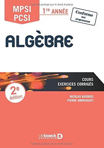 Algèbre MPSI par Pierre Abbrugiati