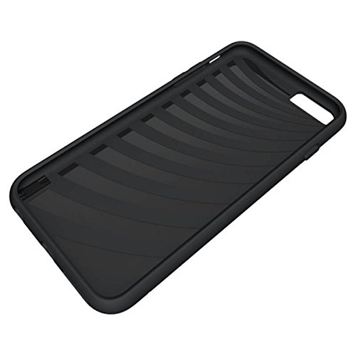 Coque iPhone 6, Housse iPhone 6S, GrandEver Soft Silicone Souple Etui pour iPhone 6S/6 Housse Solide Avec support de carte Supporter Stand Fonction iPhone 6 Noir Case TPU Bumper Haute qualité Caoutcho Noir