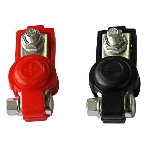 Peanutaod 2X Batterie-Schnellspannklemmen 6-12V-Polklemmen Autobatterieklemmen schwarzer und roter Stecker