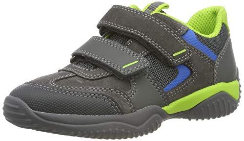 Superfit Jungen Storm Sneaker, (Grau/Grün 20), 33 EU - Kinder Graue Turnschuhe Für