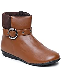 Bruno Manetti Women Tan Synthetic Boots