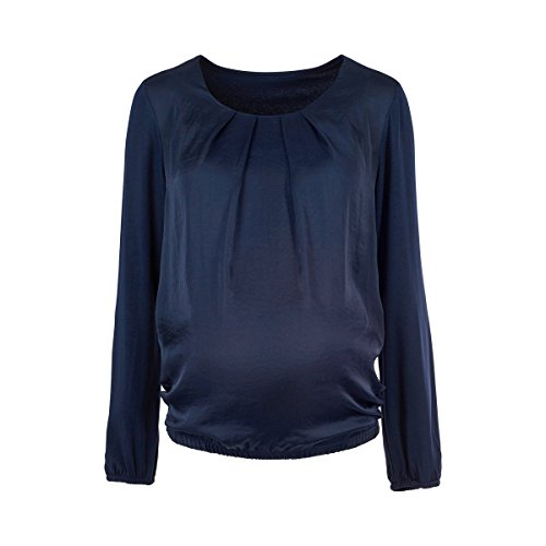 2HEARTS La blouse de grossesse Blue Satin chemisier de grossesse chemisier de grossesse Bleu