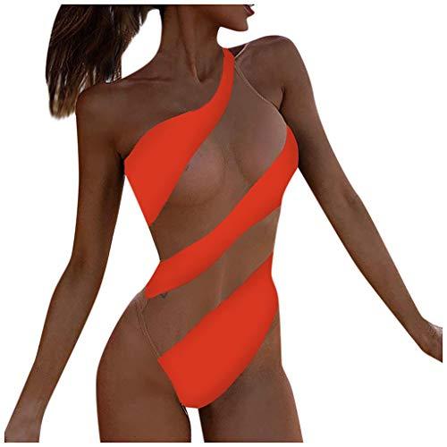 Trajes de Baño de Una Pieza para Mujer, Dragon868 Sexy Rayas Bikini Brasileño con Labor de Retazos...