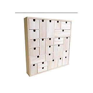 Artemio Wooden Advent Calendar to Decorate Geometric, Wood, 40 x 6.5 x 40 cm