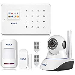 KERUI G18 Android APP iOS Contrôle sans Fil Système de Sécurité GSM d'alarme sans Fil Magnétique Fenêtre Capteur, Détecteur de Mouvement, 2.4G WiFi IP Camera IR Infrared Surveillance