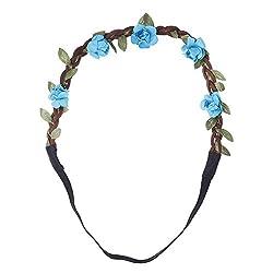 Aaishwarya Blue Wild Flower Hairband For Women & Girls