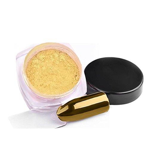 Hot Spiegel Nagel Nail Art 2G/Box Splitter Glitter Puder Glänzend Nagel Spiegel Puder Makeup Kunst DIY Chrom Pigment Von Xinan (❤️, C)
