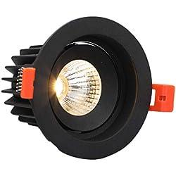 LED vertiefte Beleuchtung drehbare Downlight-Umbau-Beleuchtungs-Befestigung für Badezimmer, Küche, Offic (Farbe : Weißes Licht-8W)