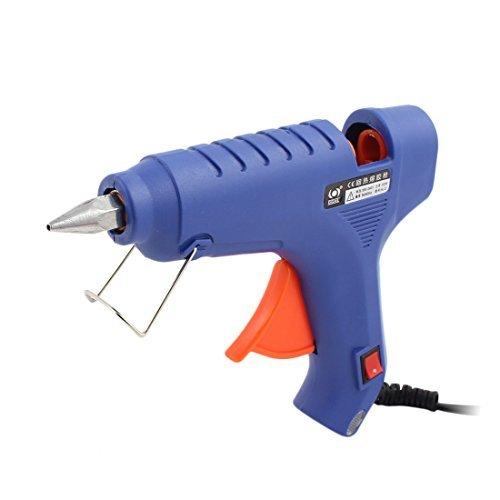 eDealMax CA 100-240V 60W nos enchufe azul de fusión en caliente pistola de pegamento de alta temperatura de activación flexible para bricolaje pequeños proyectos del arte - Madera Fusion