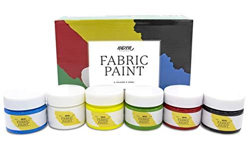 Set Pintura Textil Nazca - 6 Colores x 100 ml      ¿Estás pensando en decorar un bolso de tela? ¿customizar alguna de tus camisetas? ¿O personalizar cualquier prenda textil? Entonces este set de pintura textil de la marca Nazca es lo que busc...
