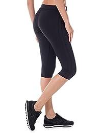 SYROKAN Femme Legging de Sport Court Yoga Jogging Pantalon Colant Pro Cool Capri