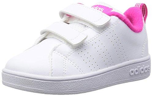 adidas Vs Advantage Clean Cmf Inf, Baskets Basses Mixte Bébé, Blanc, 21 EU Blanco (Ftwbla / Ftwbla / Rosimp)