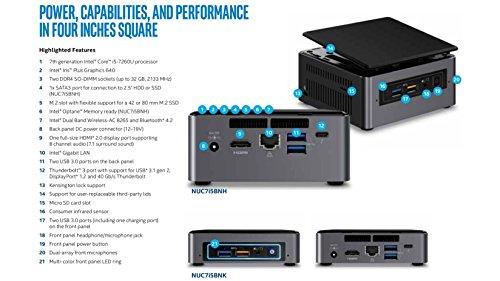 Intel Core I5 - 7th Generation Nuc Kit (boxnuc7i5bnhl + 8gb Ddr4 + 250gb Samsung Ssd) Fully Loaded Pc - Thunderbolt 3 Ready