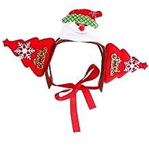 TJW Gorro de Disfraz de Mascota para Navidad,Gato Perro Navidad Sombrero,Diadema Navidad