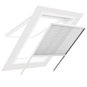 insektenschutz f r dachfenster plissee sonnenschutz insektenschutzgitter 100 x 160 cm. Black Bedroom Furniture Sets. Home Design Ideas