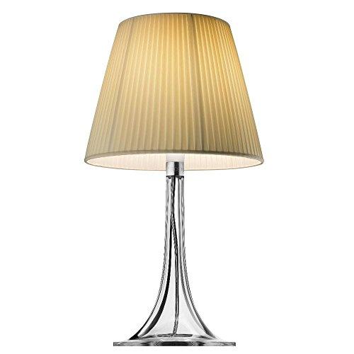 Miss K-Lámpara de mesa plisada marfil H43cm | lámpara de mesa Flos designé por Philippe Starck
