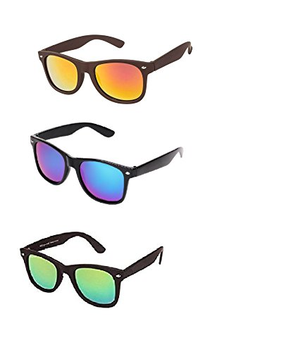 Amour-propre Green Blue Gold Wayfarer combo