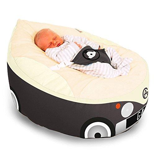 Luxury Cuddle Soft Campervan Baby GaGa Sitzsack Staubbeutel (anthrazit)