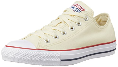 Converse Unisex Natural White Canvas Sneakers - 8 UK