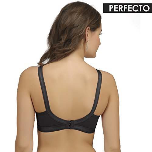 9f7997d4df3 3% OFF on Sona  Perfecto Women Black Full Cup Everyday Dream Fit for Ample  Bust Lines Plus Size Cotton Bra- Full Coverage Non Wired