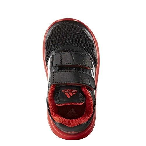 ALTARUN BA7430 BLACK SHOES ADIDAS CORE BLACK/SILVER MET./CORE RED