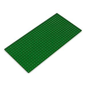 Katara- Placa de Construcción Rectangular 12,7x25,5cm Base Compatible con Lego Classic, Sluban, Papimax, Q-Bricks, Color Verde, 16x32 (1672)
