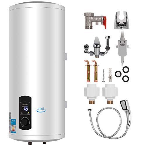 FlowerW 120L Elektrische Warmwasserbereiter 2KW Warmwasserbereiter mit Tank Warmwasserbereiter für Küche,Bad (120L)