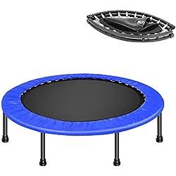 soges Mini Trampoline de 40 inch avec Trampoline de Protection pour Tapis de Sport,pour Adultes et Enfants Se Pliant Rebounder pour l'exercice à Domicile Prend en Charge jusqu'à 100 kg