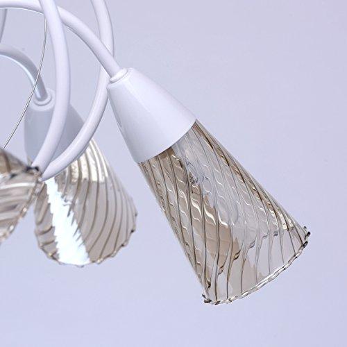 Industriedesign art-deco Deckenleuchte Kronleuchter xl modern weißes Metall - 7