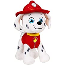 Patrulla canina (PAW PATROL) - Peluche personaje Marshall, Dalmata bombero (20cm de pie) Calidad super soft - Color Rojo-