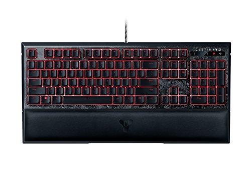 Razer Ornata Chroma Destiny 2 Edition Tastiera Mecha-Membrane da Gaming, Supporto per Polsi Ergonomico, Tasti a Metà Corsa, Retroilluminazione RGB, Layout US( QWERTY)