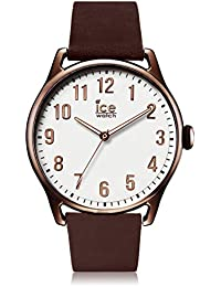Ice-Watch - ICE time Brown White - Montre marron pour homme avec bracelet en cuir - 013047 (Large)