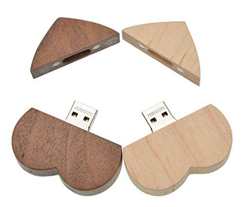 Febniscte 32gb usb penna cuore legno pen drive con la scatola di legno