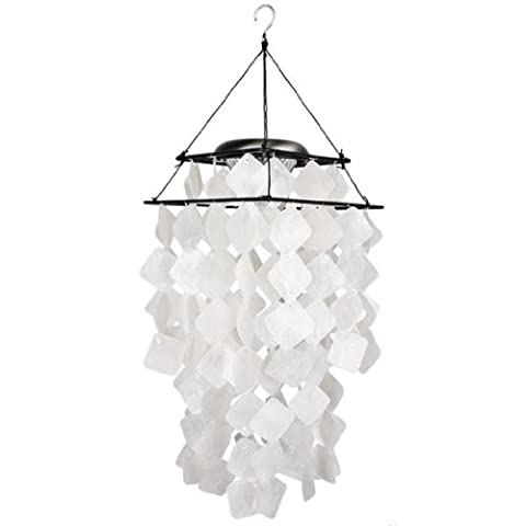 Woodstock Asli Arts Collection, Capiz solaire Chime- diamants blancs