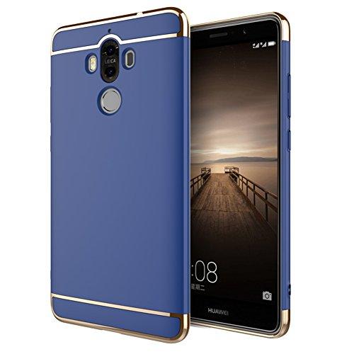 Huawei Mate 10 Hülle, 3-in-1 Design Premium PC Hülle Schutzhülle Ultra Dünn Kratzfest Handyhülle Case Cover Huawei Mate 10 Blau