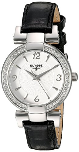 ELYSEE Made in Germany Angelina 33033N 32mm Stainless Steel Case Black Calfskin Mineral Women's Watch